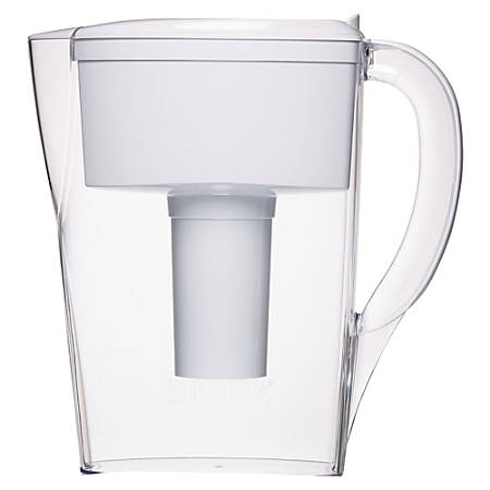 Brita® Space Saver 6-Cup Water Filter Pitcher, White