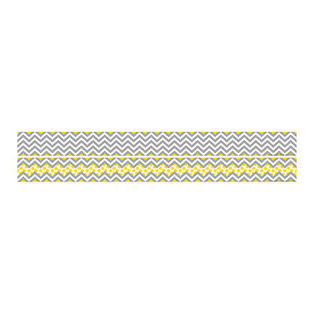 "Barker Creek Double-Sided Straight-Edge Border Strips, 3"" x 35"", Chevron, Pack Of 12"