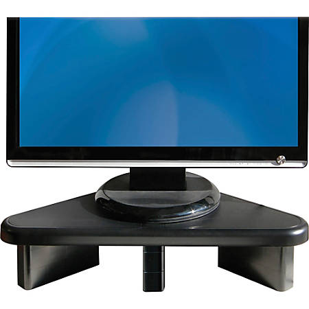 "DAC Stax Ergonomic Height Adjustable Corner Monitor Riser - 66 lb Load Capacity - Flat Panel Display Type Supported19.8"" Width - Desktop - Black"