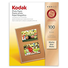 Kodak Matte Photo Paper Letter Size