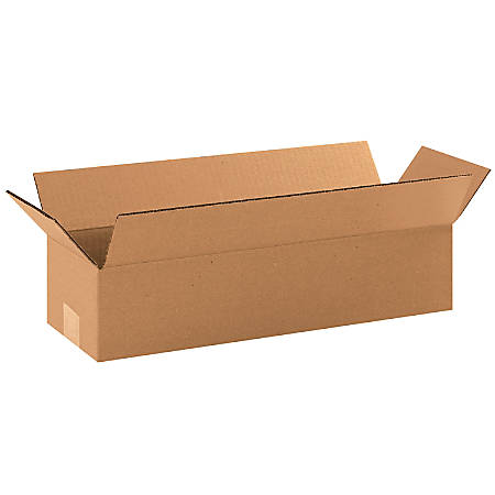 "Office Depot® Brand Long Boxes, 18""L x 6""H x 4""W, Kraft, Pack Of 25"