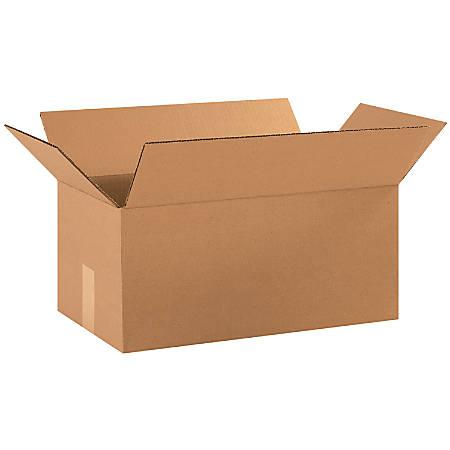 "Office Depot® Brand Corrugated Cartons, 18"" x 10"" x 8"", Kraft, Pack Of 25"