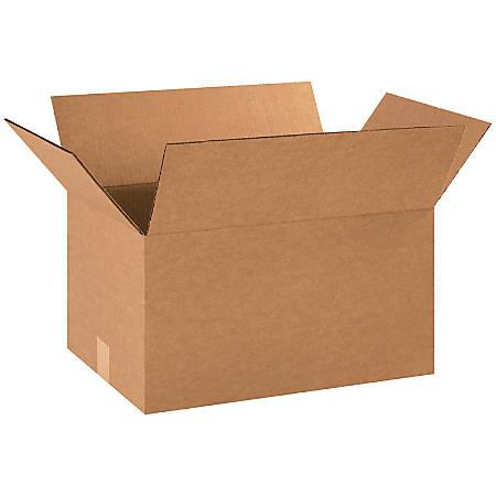 "Office Depot® Brand Corrugated Cartons, 18"" x 12"" x 10"", Kraft, Pack Of 25"