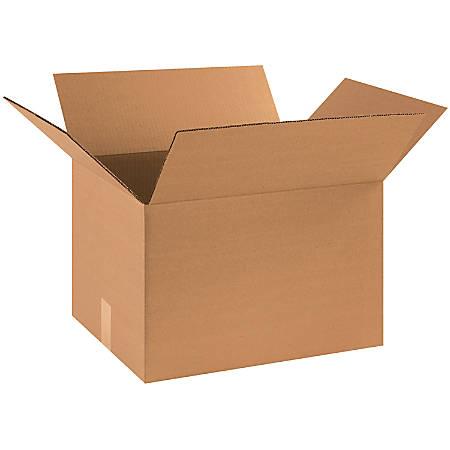 "Office Depot® Brand Corrugated Cartons, 18"" x 14"" x 14"", Kraft, Pack Of 20"