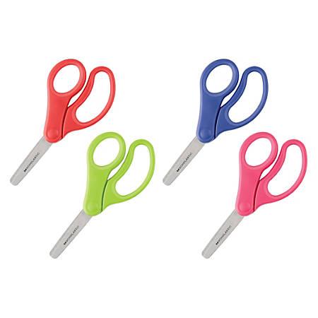 """Scholastic Kids Scissors, 5"""", Blunt, Assorted Colors"""