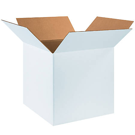"""Office Depot® Brand White Corrugated Cartons, 18"""" x 18"""" x 18"""", Pack Of 20"""