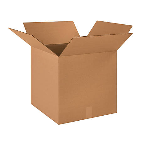 "Office Depot® Brand Heavy-Duty Corrugated Cartons, 18"" x 18"" x 18"", Kraft, Pack Of 20"