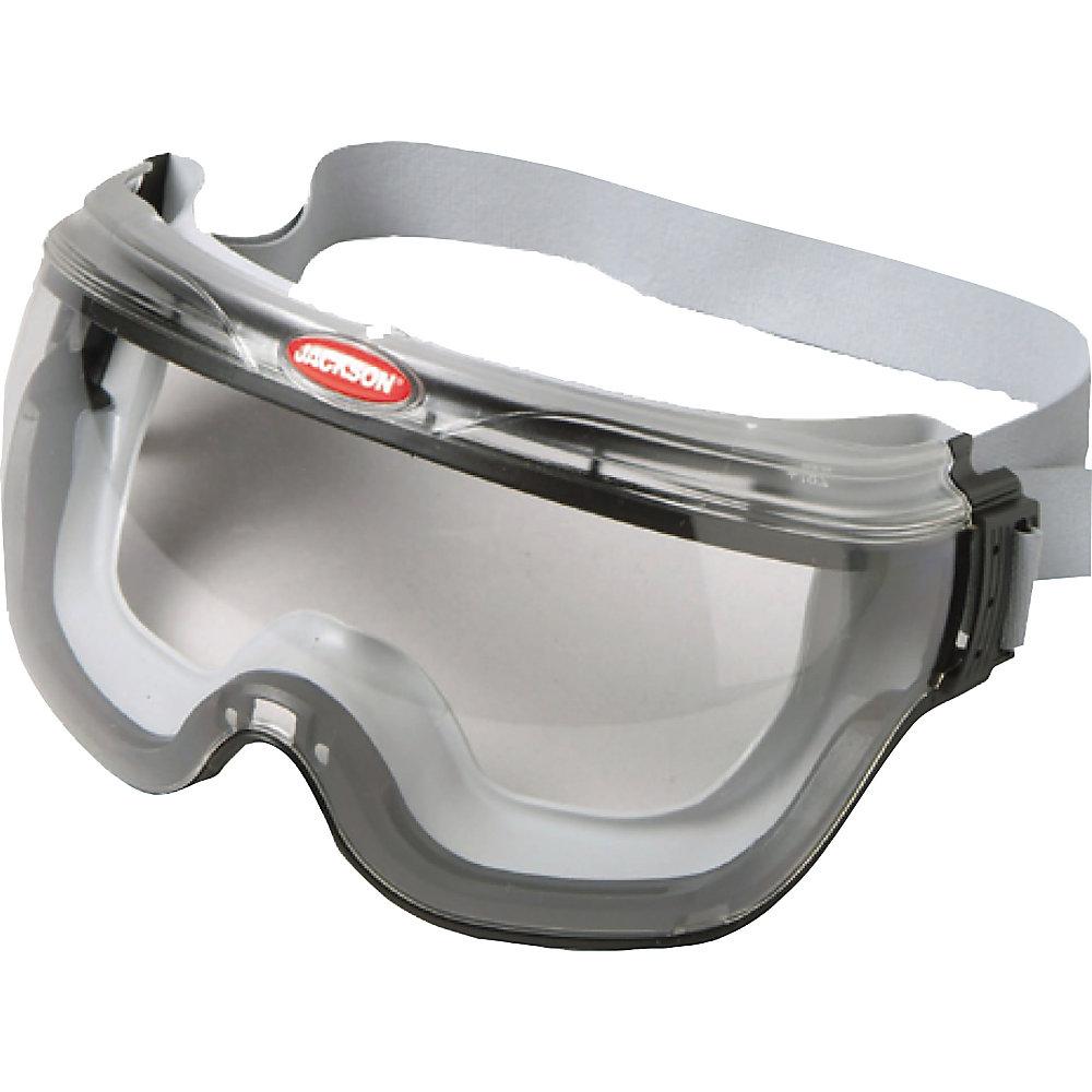 JACKSON SAFETY 14387 Monogoggle 211 Goggle Protect AntiFog CLR Len GRN Frame