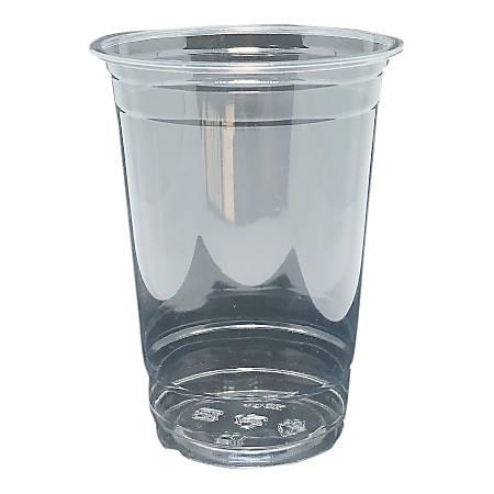 Edris Plastics PET Cups, 20 Oz, 50% Recycled, Clear, Carton Of 600 Cups