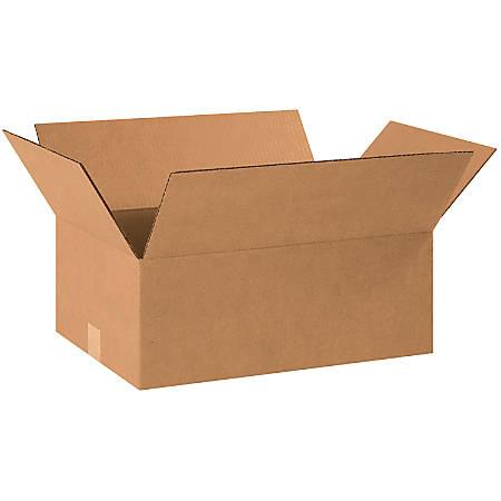"Office Depot® Brand Corrugated Cartons, 18 1/2"" x 12 1/2"" x 7"", Kraft, Pack Of 25"