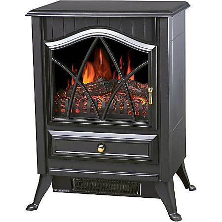 Comfort Glow Ashton Electric Stove - Electric - 750 W to 1500 W - 2 x Heat Settings - Black