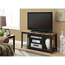 Monarch Specialties Marble Top TV Stand