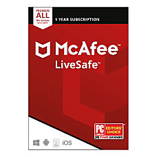 McAfee LiveSafe Unlimited Devices For PCMaciOSAndroid