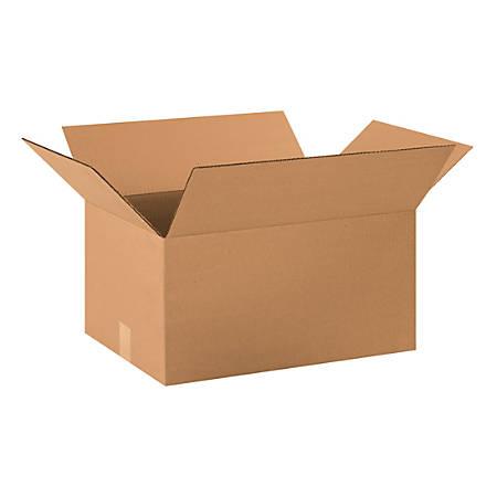 "Office Depot® Brand Corrugated Cartons, 20"" x 14"" x 10"", Kraft, Pack Of 20"