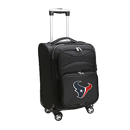 """Denco ABS Upright Rolling Carry-On Luggage, 21""""H x 13""""W x 9""""D, Houston Texans, Black"""