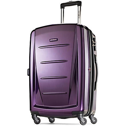 "Samsonite® Winfield 2 Polycarbonate Rolling Spinner, 20""H x 13 1/2""W x 9""H, Purple"