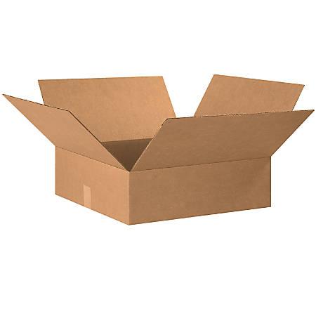 "Office Depot® Brand Flat Corrugated Cartons, 20"" x 20"" x 6"", Kraft, Pack Of 15"