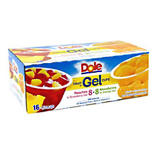 Dole Assorted Fruit In Gel Cups