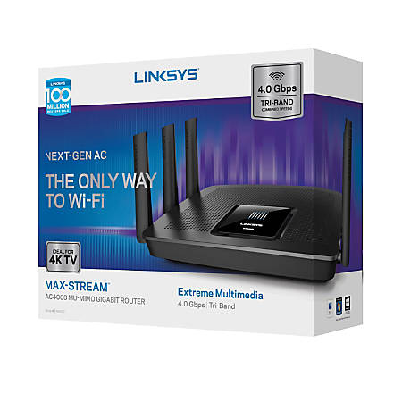 Linksys® AC4000 MU-MIMO Wireless Router, EA9300