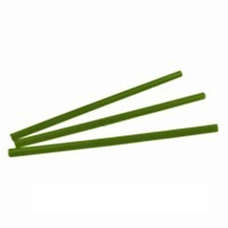 "CelloCore Compostable Drinking Straws, 7 3/4"", Green, 500 Straws Per Box, Case Of 24 Boxes"