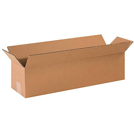 "Office Depot® Brand Long Boxes, 24""L x 6""H x 6""W, Kraft, Pack Of 25"