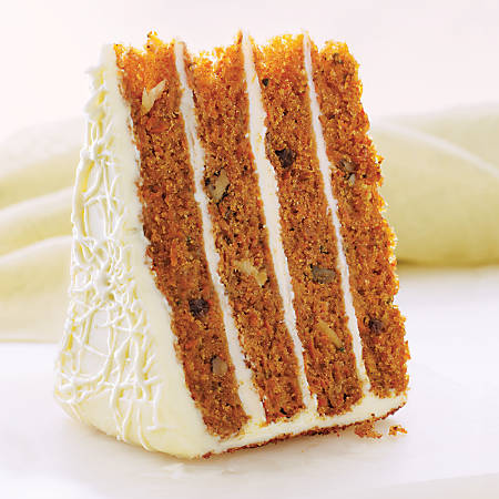 "Sweet Street Desserts 10"" 4 High Carrot Cake, 14 Slices"