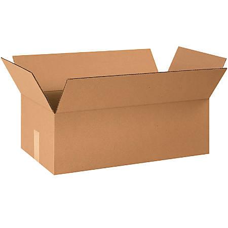 "Office Depot® Brand Corrugated Cartons, 24"" x 12 1/2"" x 8"", Kraft, Pack Of 20"