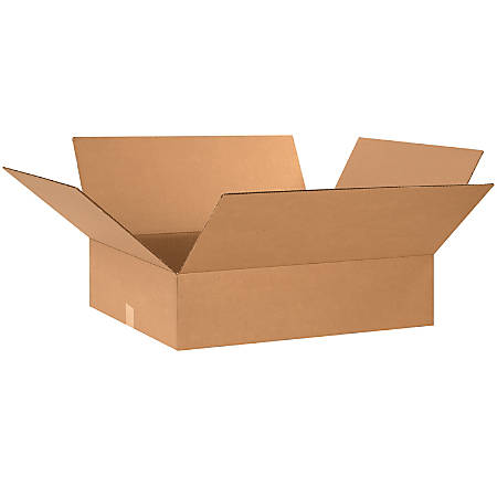 "Office Depot® Brand Flat Corrugated Cartons, 24"" x 20"" x 6"", Kraft, Pack Of 10"
