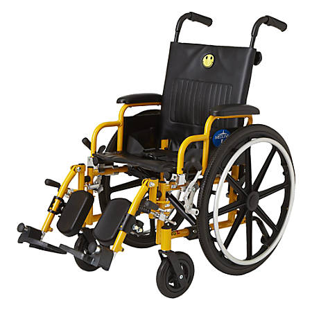 Medline Kidz Pediatric Wheelchair, Yellow