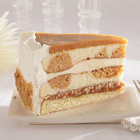 "Sweet Street Desserts 9"" Salted Caramel Vanilla Crunch Cake, 14 Servings"