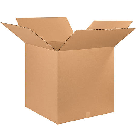 """Office Depot® Brand Corrugated Boxes, 26""""L x 26""""W x 26""""H, Kraft, Pack Of 10"""