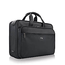 Solo Classic Smart Strap Briefcase Black