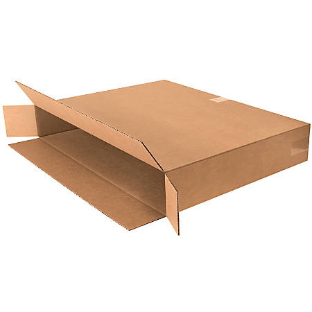 """Office Depot® Brand Side Loading Corrugated Cartons, 30"""" x 5"""" x 24"""", Kraft, Pack Of 10"""