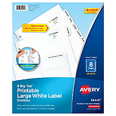 Avery Big Tab Printable Large Label