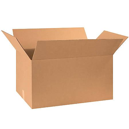 "Office Depot® Brand Corrugated Cartons, 30"" x 17"" x 16"", Kraft, Pack Of 15"