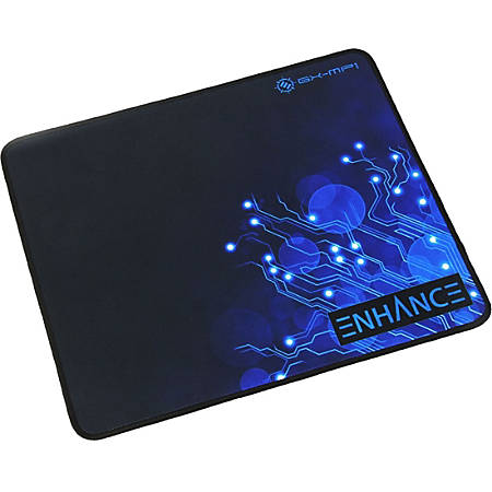 "Enhance Mouse Pad - Texturized Rubber - 12.6"" x 10.6"" Dimension - Black - Rubber Grip, Rubber Base - Fray Resistant, Friction Resistant, Slip Resistant"
