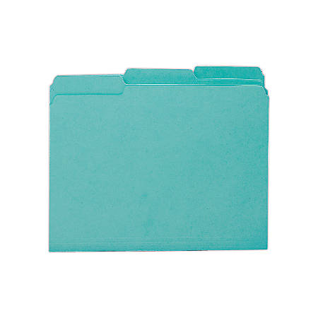 Smead® Interior Folders, Letter Size, Aqua, Box Of 100