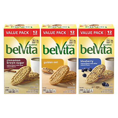Belvita Breakfast Biscuit Variety Pack, 1.76 Oz Per Pack, Box Of 3 Packs