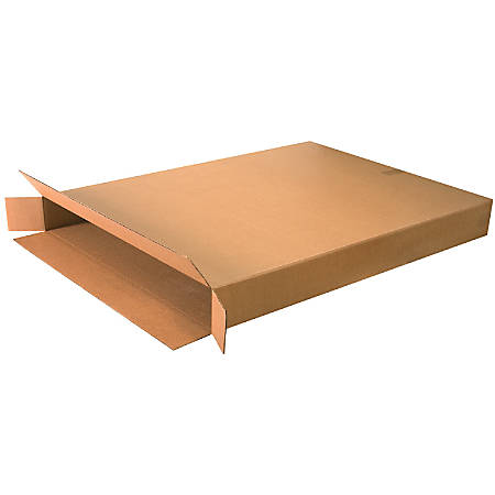 "Office Depot® Brand Side Loading Corrugated Cartons, 36"" x 5"" x 48"", Kraft, Pack Of 5"