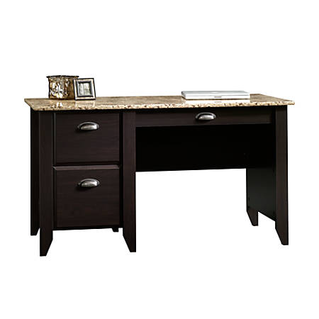 Sauder Samber Desk Granitejamocha Wood Office Depot