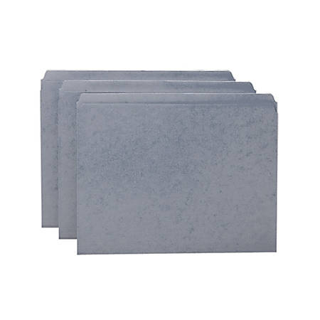 Smead® File Folders, Letter Size, Straight Cut, Gray, Box Of 100