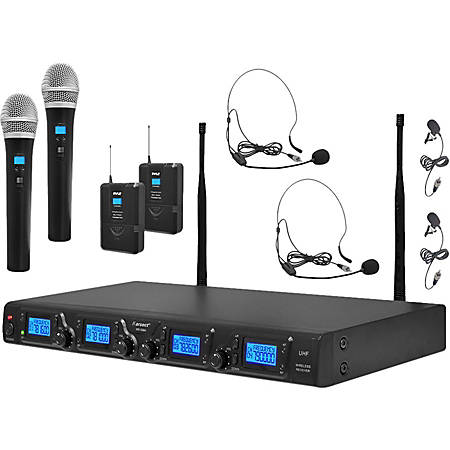 PylePro Premier PDWM4350U Wireless Microphone System - 673 MHz to 698 MHz Operating Frequency