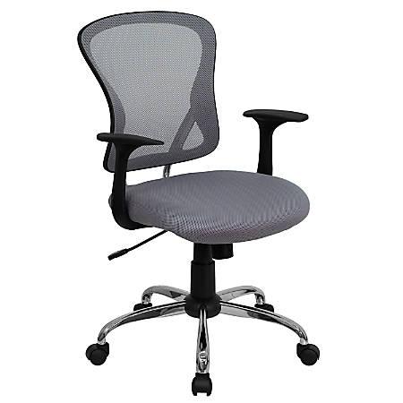 Flash Furniture Mesh Mid-Back Task Chair, Gray/Black/Chrome