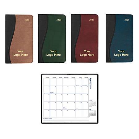 "Wave Monthly Pocket Calendar, 6 3/8"" x 3 5/8"", January–December"