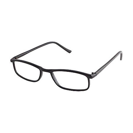 ICU Eyewear DDE Richmond Men's Reading Glasses, Black, +1.75