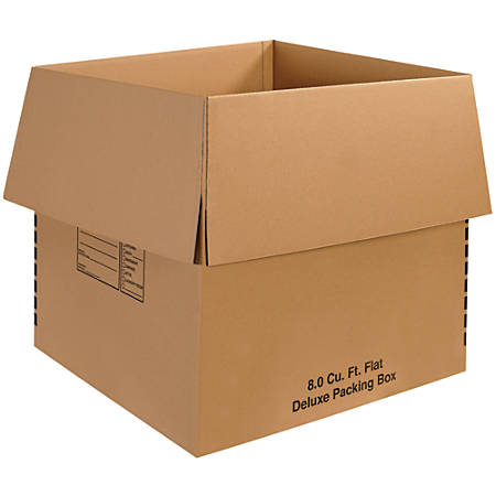 "Office Depot® Brand Deluxe Packing Boxes, 24""H x 24""W x 24""D, Kraft, Pack Of 10"