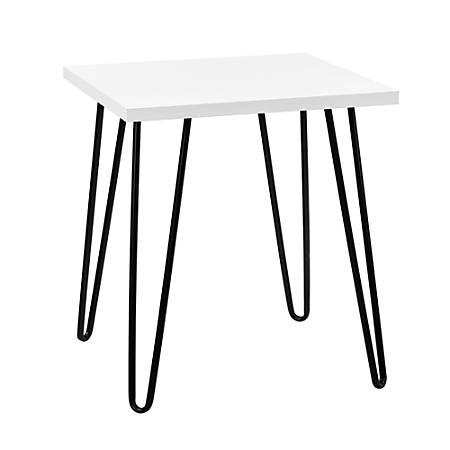 Ameriwood™ Home Owen Retro End Table, Square, White/Black
