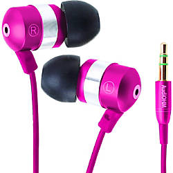 GOgroove AudiOHM Earbuds Pink