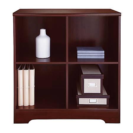 Realspace® Magellan 4-Cube Bookcase, Classic Cherry