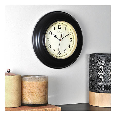 FirsTime & Co.® Plastic Wall Clock, Oil Rubbed Bronze